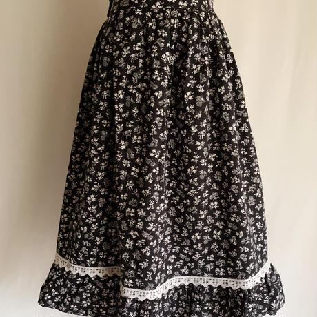 70's Euro Vintage Cotton Floral Flare Skirt