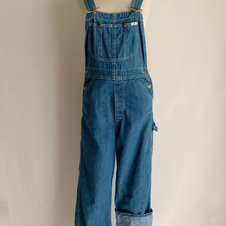 "70's USA "" Lee "" Denim Over All"