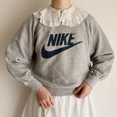 "70's USA "" NIKE "" Swoosh Printed Sweat Shirt"