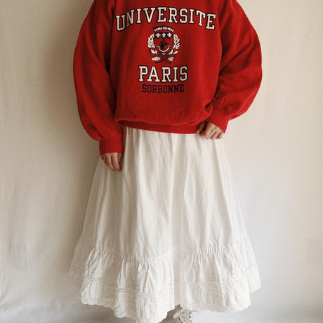 80's French College logo Print Sweat Shirt
