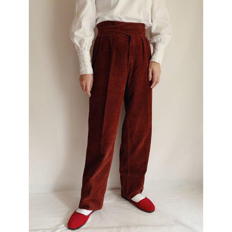 Euro Vintage Corduroy Waist Band Pants