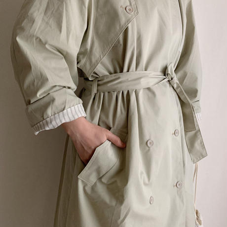 80's Euro Vintage Double Breasted Spring Long Coat