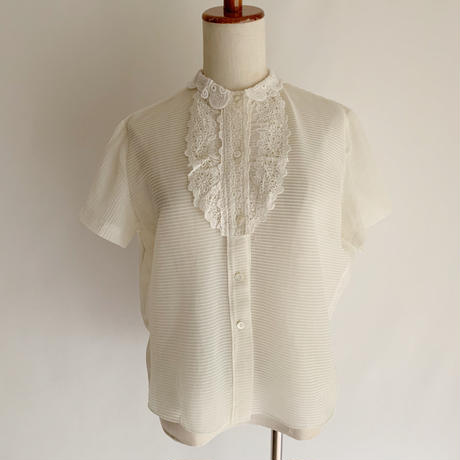 - 60's Euro Vintage Sheer Nylon Blouse