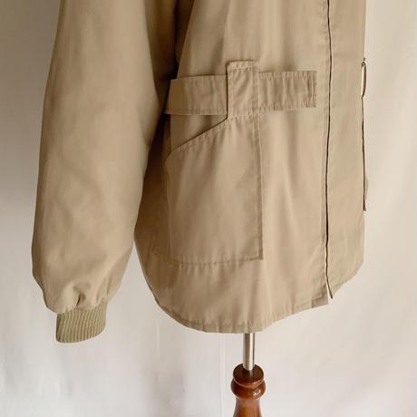 80's Euro Vintage Zip Up Hooded Jacket With Belt