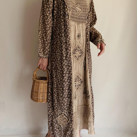 India  embroidery Rayon Long Dress