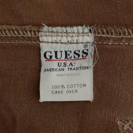 "80's - 90's USA "" GUESS "" Cotton Twill Over All"