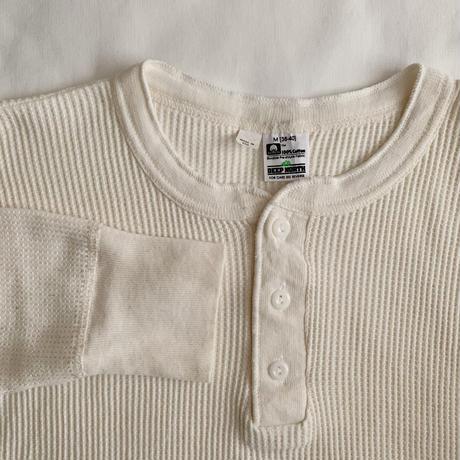 "80's USA OLD COTTON "" DEEP NORTH ""Henrynec Thermal Shirt"