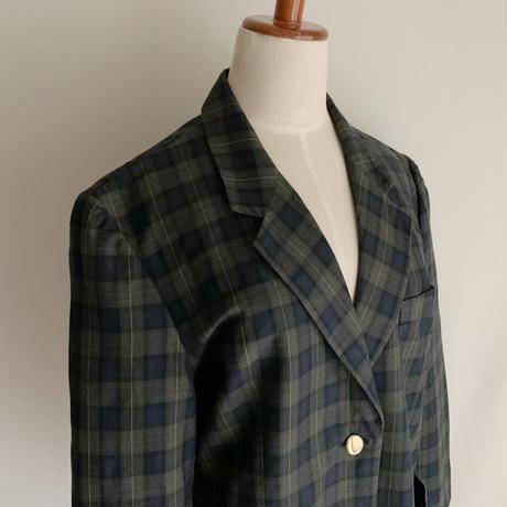 80's Euro Vintage Cotton Plaid Jacket
