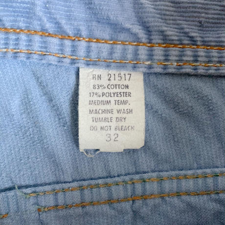 70's USA Flare  Silhouette Corduroy Over All