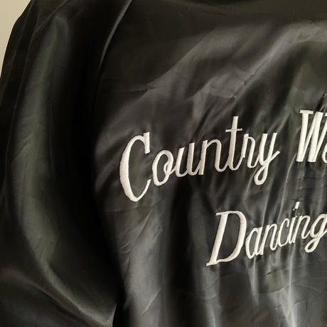 "80's USA Dead Stock "" Country Western Dancing ""Nylon Satin Jacket"