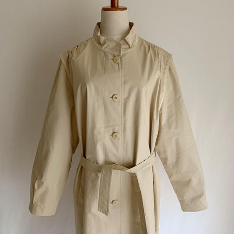 80's Euro Vintage Stand Collar Spring Long Coat