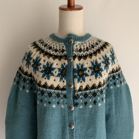 Euro Vintage Nordic Hand Knit Cardigan