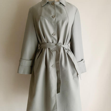 70's Euro Vintage Pale Blue Coat With Ribbon