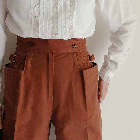 70's - 80's Dead Stock Euro Vintage Waistband Tapered Pants