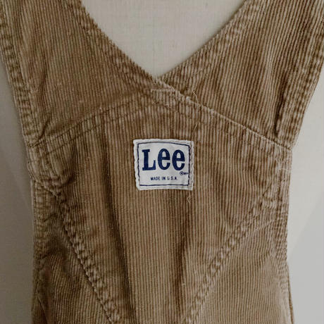"70's USA "" Lee "" Light Beige Corduroy Over All"
