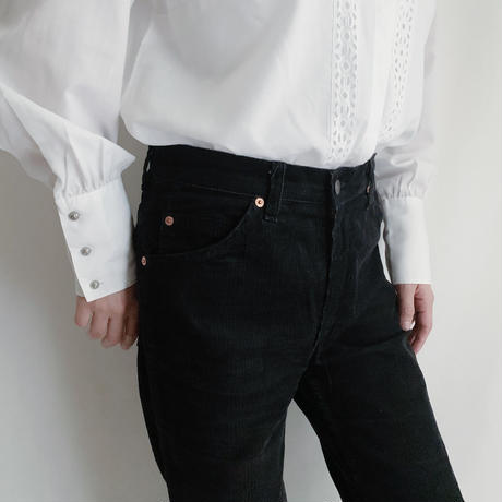 80's French Euro Levi's Black Corduroy Pants