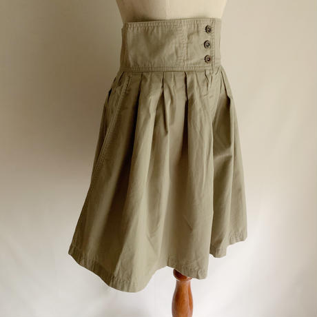 Euro Vintage Cotton Culotte Half Pants