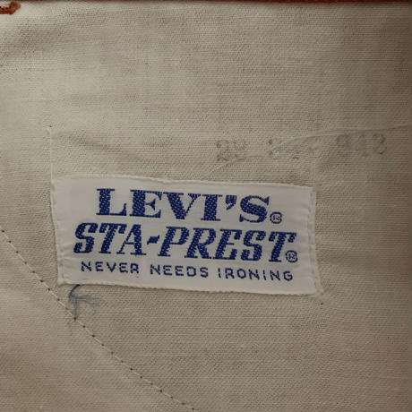 "60's - 70's USA  Levis "" Big E ""Staprest Pants"