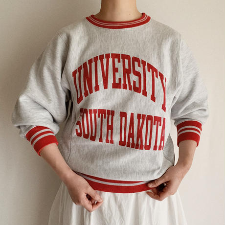 "80's USA "" Champion "" College logo Printed Reverse Weave"