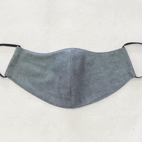 息がしやすいマスク/新色☆ブラックダンガリー/コットン100%/男性用/女性用/子供用/幼児用/送料無料