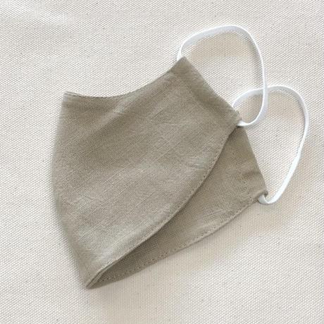 息がしやすいマスク/新色☆生成り・カーキベージュ/さがの木綿モーリークロス女性用/送料無料