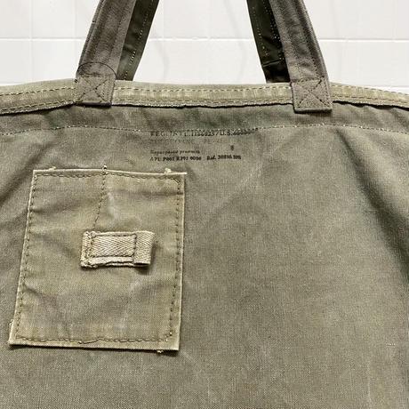 【USED】VINTAGE TENT FABRIC LARGE BAG