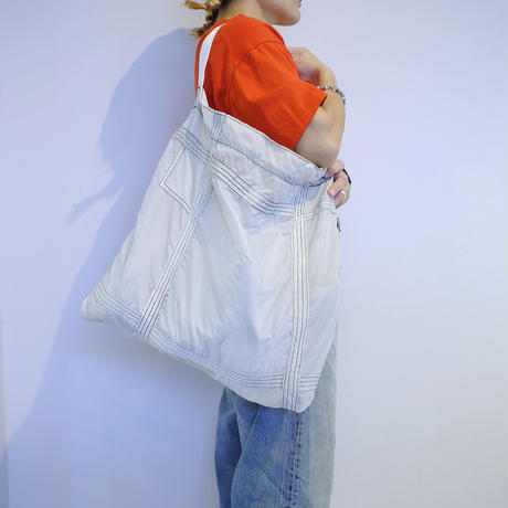 【USED】VINTAGE PARACHUTE LIGHT BAG_WHITE