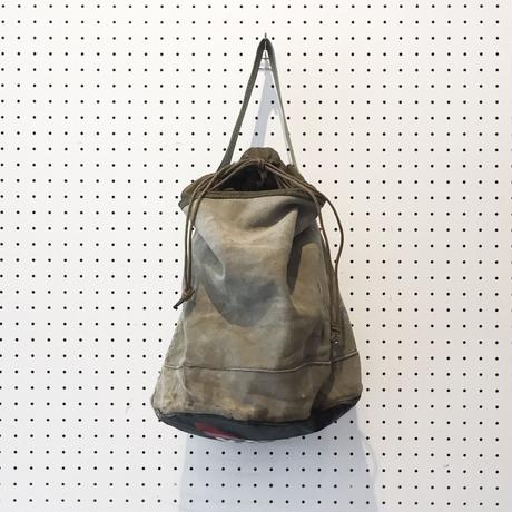【USED】VINTAGE MATERIAL DRAWSTRING BAG_B