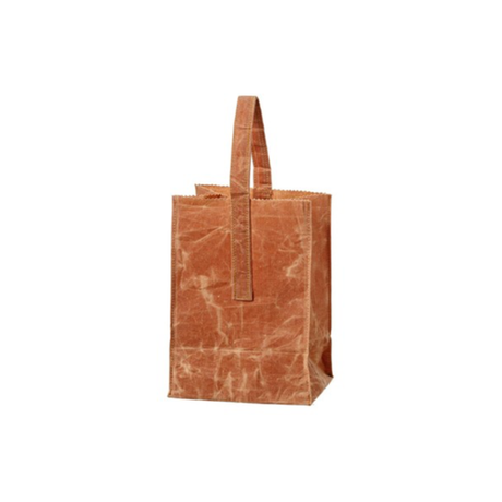 GROCERY BAG WITH HANDLE 〈SMALL/BROWN〉