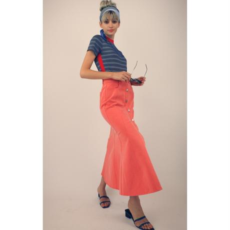 カラーデニムマーメイドスカート