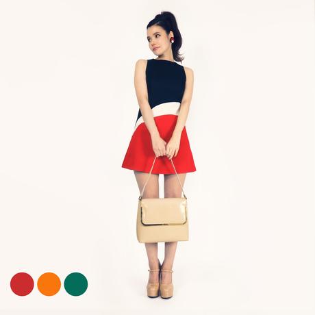 【カラーオーダー】カーブライン切替ドレス