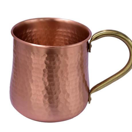 マグカップ おしゃれ 500ml 純銅製 手作り ビールグラス コップ コーヒーカップ 麦酒 ビール タンブラー ビアカップ ビアジョッキ プレゼント