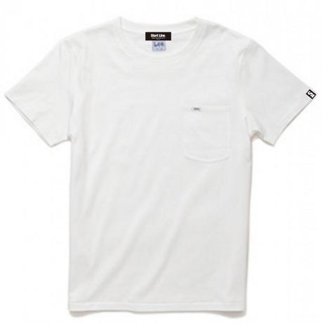 【M残り1点】Lee with SL Pocket T-shirt/リーウィズポケットTシャツ(White/ホワイト)