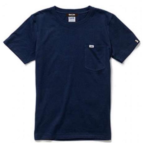【XS残り2点】Lee with SL Pocket T-shirt/リーウィズポケットTシャツ(Navy/ネイビー)  ウィメンズ