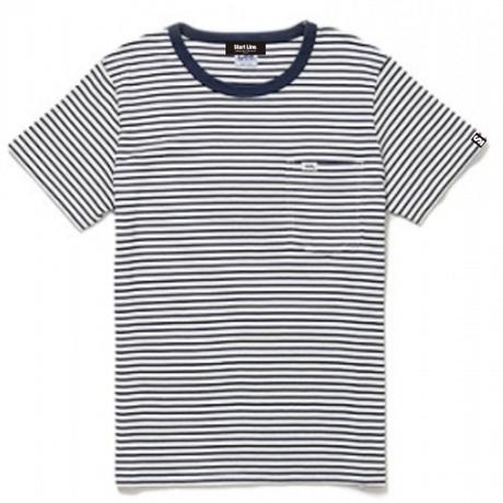【XS残り1点】Lee with SL Pocket Border T-shirt/リーウィズポケットボーダーTシャツ(Navy/ネイビー)  ウィメンズ