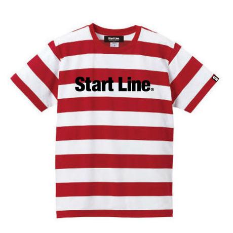 【M残り1点】StartLine Standard Border T-shirt/スタンダードボーダーTシャツ(Red/レッド)