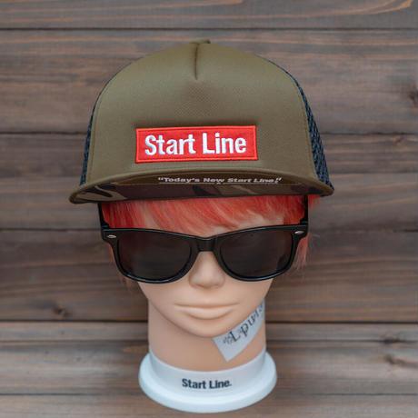 StartLine Box Logo Cap X/ボックスロゴキャップ(Khaki/カーキ)