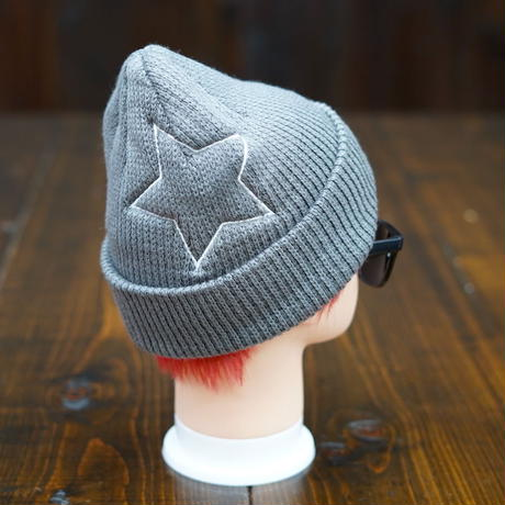 【残り1点】Big Star Knit Cap/ビッグスターニットキャップ(Gray/グレー)