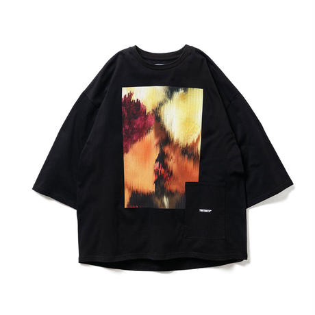 TONGUE FU 7 SLEEVE T-SHIRT(TIGHTBOOTH / KOSUKE KAWAMURA)- BLACK