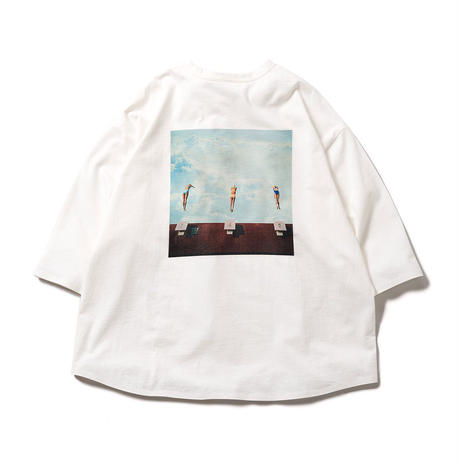 DIVE TO BLUE 7 SLEEVE  - WHITE