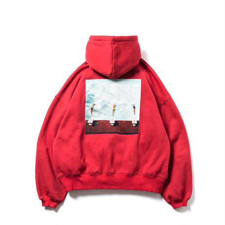 DIVE TO BLUE HOODIE  -  RED