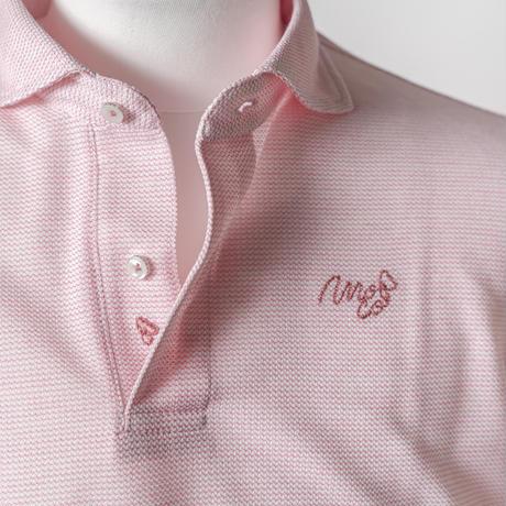 MOCO [ 21-2211242 ] 和紙混変形鹿の子【半袖シャツ】 -  ピンク(73)