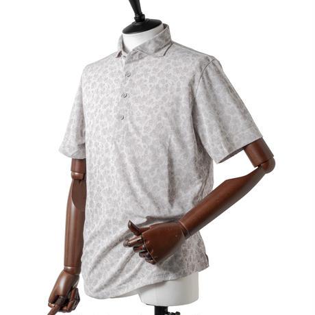 MOCO [ 21-2211344 ] カスレフラワージャガード【半袖シャツ】 - ライトグレー(11)