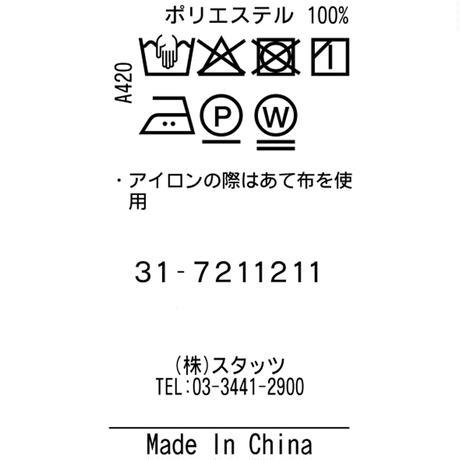 TRATTO[ 31-7211211 ] フィールドセンサー鹿の子【ピンタックテーパードイージーパンツ】 - ネイビー(98)
