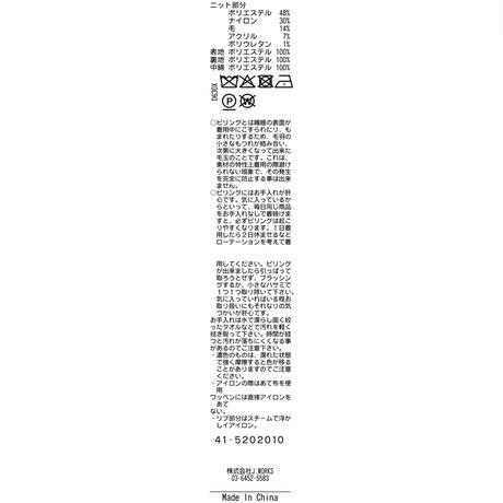 JWO [41-5202010 ] モコモコ接結【中綿前開きスタンドブルゾン】- ブラック(19)