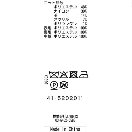 JWO [41-5202011 ] モコモコ接結【前開きパーカー】- オフホワイト(05) ブラック(19)