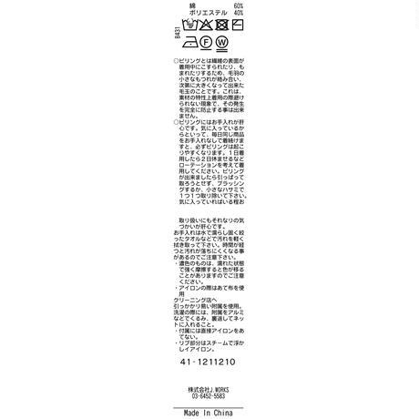 JWO [ 41-1211210 ] 杢調カノコ【長袖クルーネックPOニット】- イエロー(32)