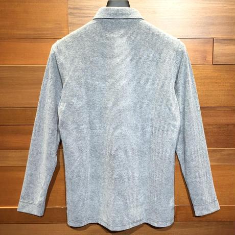 MOCO [ 21-2202913 ] T/C JQワッフル【長袖2Bワイドカラーシャツ】 シルバーグレー(11)