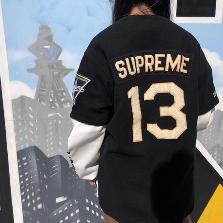 即納☆VINTAGE SUPREME ベースボールシャツ