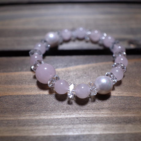 【 Balance Bracelet 200 / Cut Crystal Rose Quartz (8mm) 】数量限定セール企画品 ( Modern Pirates Care )